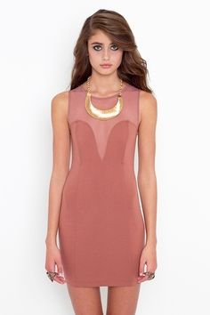 Mesh Plunge Dress - StyleSays- love but not crazy about the color