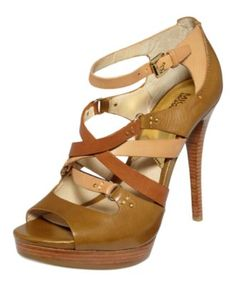 MICHAEL by Michael Kors Shoes, Cindy High Heel Sandals - Shoes - Macy's