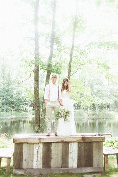 This pic is SO pretty, but can my fiancé PLEASE wear suspenders at my wedding? xD