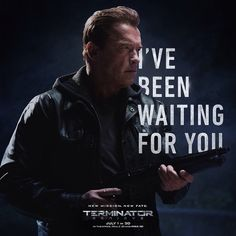 He's back. Tag your friends if you're ready for #Terminator Genisys on July 1st.