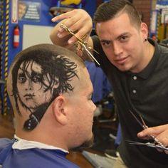 Rob The Original Hair Art 1 Edward scissor hands hair design s #fades #HairArt