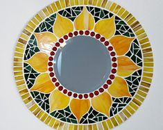 Mosaic Wall Art, Mirror Mosaic, Mosaic Glass, Beveled Mirror, Mosaic Art Projects, Mosaic Crafts, Mirror Painting, Mirror Wall Art, Mosaic Designs