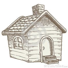 Cabins In The Woods, House In The Woods, Cartoon Mole, Big Sheds, Fantasy House, House Drawing, Cartoon Drawings, Pencil Drawings, Commercial Design