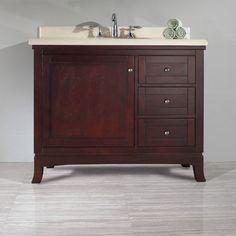 """Manufactured Wood. Ove Decors Valega 42"""" Single Bathroom Vanity Set"""