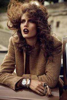 L'heure du départ (Vogue Paris) makeup by Yadim