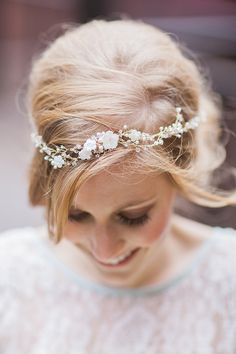 crystal bridal headband, photo by Photography Stylistas http://ruffledblog.com/elegant-parisian-styled-wedding #headband #wedding #hair