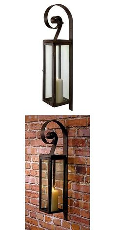 Candle Holders and Accessories 16102: Imax Metal Carriage Lantern Candle Wall Sconce, Brown -> BUY IT NOW ONLY: $60 on eBay!