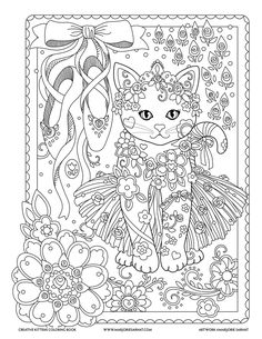 Adult Coloring Creative Kittens Coloring Book (Creative Haven Coloring Books) Coloring Pages For Grown Ups, Free Adult Coloring Pages, Cat Coloring Page, Doodle Coloring, Animal Coloring Pages, Coloring Pages To Print, Mandala Coloring, Coloring Book Pages, Printable Coloring Pages
