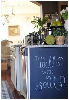 chalkboard paint  personal touch