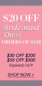#Bridesmaid dresses #sale !  Get $20 OFF of $150  $30 OFF $200  $55 OFF $300  Expired:15/9  http://www.outerinner.com/bridesmaid-  dresses-cg-12.html?size=160