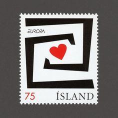 Europa, Integration. Iceland, 2006. Design: Ole Kristian Öye + Tryggvi T. Tryggvason. #graphilately #mnh #graphiIceland