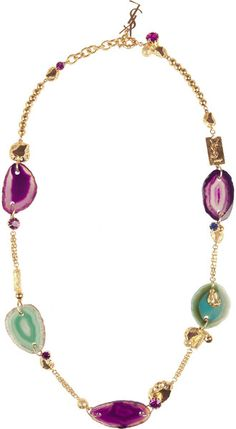 YVES SAINT LAURENT Chyc Goldplated Agate Necklace - Lyst