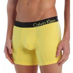 Calvin Klein, Men's Bold Boxer Brief In Pure Yellow | TEMPTBRANDS