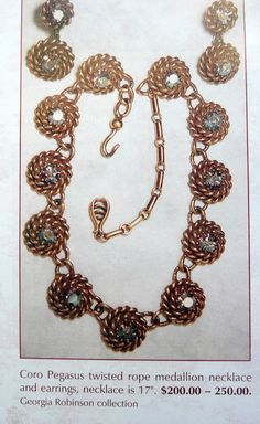 BOOK PIECE Vintage early CORO twisted rope di RAKcreations