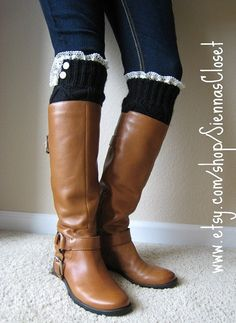 Leg warmers from old sweaters! Love this idea!