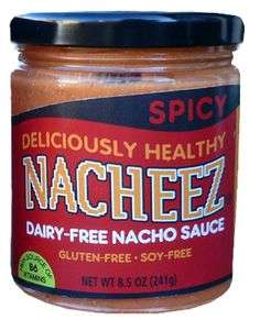 Spicy Nacheez®----The same as the Mild Nacheez®, but with the added flavor of Anaheim and Jalapeño peppers to give it a kick. Pour it on your favorite corn chips or on top of your favorite chili.