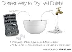 Fastest way to dry nails