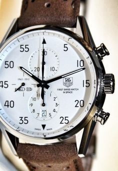 Tag Heuer Carrera Calibre 1887 SpaceX Chronograph Watch.
