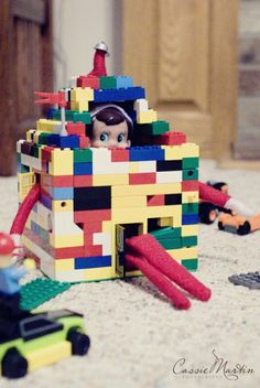 You can build all sorts of structures for your elf out of Legos! - Photo via http://pinterest.com/cassie_martin/