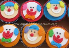 doces decorados do palhaço - Pesquisa Google