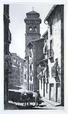 Calle Elvira, Granada, Grabado - Decoración Árabe