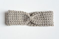 Fishermans Rib Knit Headband Downton Abby/ Size 10 Knitting Needles  Less that one skein Premier Downton Abbey Collection – Branson or comparable bulky / chunky yarn