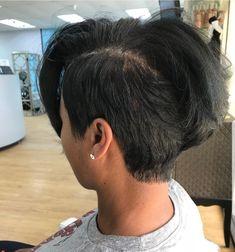 Short Sassy Hair, Short Hair Cuts, Short Hair Styles, Natural Hair Styles, Pixie Styles, Pixie Cuts, Shaved Side Hairstyles, Weave Hairstyles, Cool Hairstyles