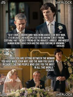 Sherlock's best man speech made me all teary-eyed. They're writing their friendship beautifully this series.