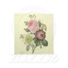 Vintage Botanical Flowers napkins (set of 4)