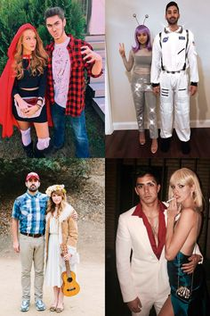 Check these amazing 25 couples Halloween costume ideas perfect for you and your bae. If youre going to a college Halloween party with your date, youre going to love all these costumes for couples! You shouldnt miss number last minute halloween costumes Halloween Diy Kostüm, Easy Couple Halloween Costumes, Easy Couples Costumes, Modern Halloween, College Couple Costumes, Unique Couple Halloween Costumes, Easy Diy Costumes, Halloween Makeup, Halloween Decorations