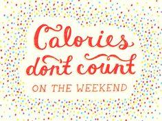 Fit by Fie: Calorieën tellen niet in het weekend?