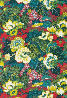 Shanghai Peacock - Cerise  Going to be another popular pattern like Chiang Mai Dragon!  $145