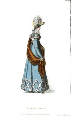 Walking Dress from Ackermann's Repository of the Arts February 1819