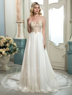 Tbdress.com offers high quality Spaghetti Strap Beading A-Line Court Train Long Sleeves Wedding Dress Latest Wedding Dresses unit price of $ 184.99.