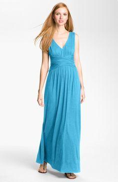 Three Dots V-Neck Jersey Maxi Dress available at #Nordstrom