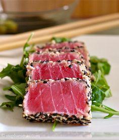 Sesame Crusted Seared Ahi Tuna | Life Tastes Like Food