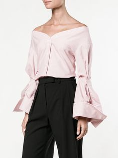 Jacquemus checked off-shoulder blouse, shop now at Farfetch