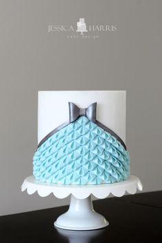 Modern Looped Bow Ruffle Cake by Jessica Harris