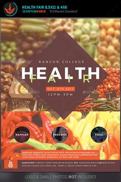15 best health fair images health fair flyer design flyer template