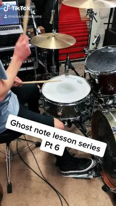How To Play Drums: The 6th of an 18 part drum lesson series focused on developing ghost notes Drum Sheet Music, Drums Sheet, Saxophone Sheet Music, Music Guitar, Music Songs, Guitar Art, Indie Music, Samba Drums, Drum Lessons For Kids
