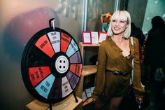 One of the highlights of the evening was a spinning prize wheel that included fabulous gifts from most of the beauty sponsors! Buy this Prize Wheel at https://PrizeWheel.com/products/tabletop-prize-wheels/mini-clicker-prize-wheel/.
