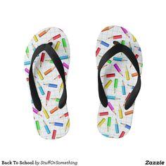 Back To School Kid's Flip Flops