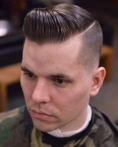 Wake Up and Smell the Barbicide Very Short Haircuts, Cool Mens Haircuts, Great Haircuts, Men's Haircuts, Slick Hairstyles, Classic Hairstyles, Male Hairstyles, Mens Wedding Hairstyles, Brylcreem Hairstyles