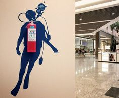 fire extinguisher wall art.
