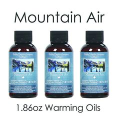 Introducing Aromatherapy Hosleys Premium Mountain Air Highly Scented Warming OilSet of 3 Bottles 55 ml 186 ozMade in USA BULK BUY Ideal GIFT for weddings spa Reiki Meditation settings. Get Your Ladies Products Here and follow us for more updates!