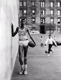 A Young Lew Alcindor at Power Memorial High School in New York City (circa 1964).....