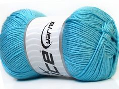 Baby AntiBacterial Baby Blue knitting yarn from ice yarn