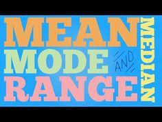 Range Median Mode: 24 Quick, Free Activities and Resources - Teach Junkie Math Help, Fun Math, Math Games, Math Activities, Math Class, Math Songs, Parody Songs, Sixth Grade Math, Fourth Grade