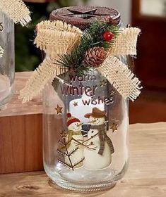 Mason Jar LED Candles #ledchristmascandles