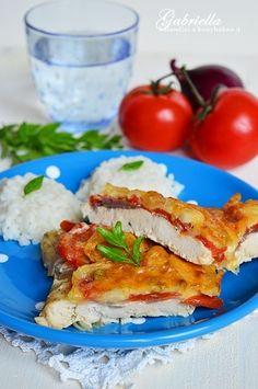 Gabriella kalandjai a konyhában :): Tepsis lecsós csirkemell mustáros-tejes pácban